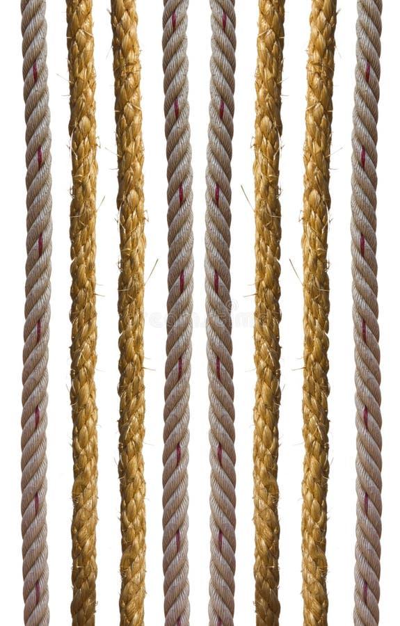 De kabel veelvoudige lijnen van Manilla. stock foto