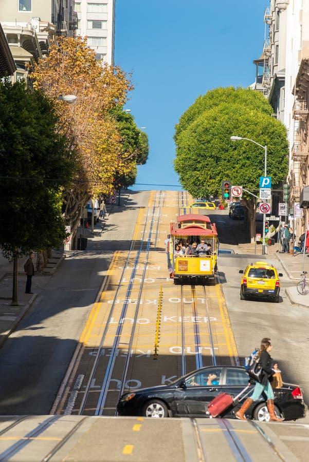 De Kabelbaan van San Francisco stock fotografie