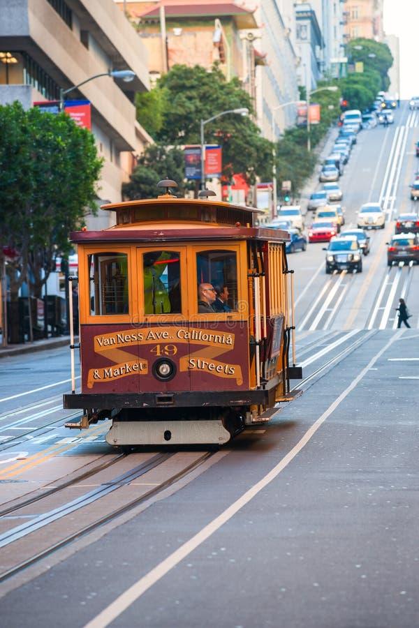 De Kabelbaan van San Francisco royalty-vrije stock foto