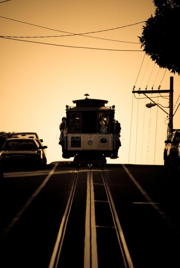 De kabelbaan van San Francisco in Seph royalty-vrije stock foto