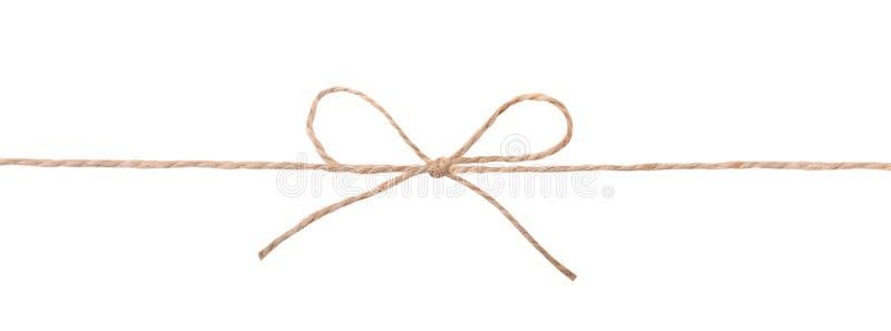 De kabelboog van de koordstreng op wit wordt geïsoleerd dat stock afbeelding