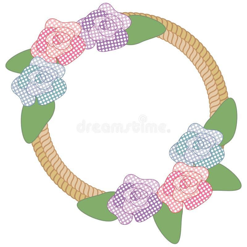 De kabelgrens van bloemen royalty-vrije illustratie