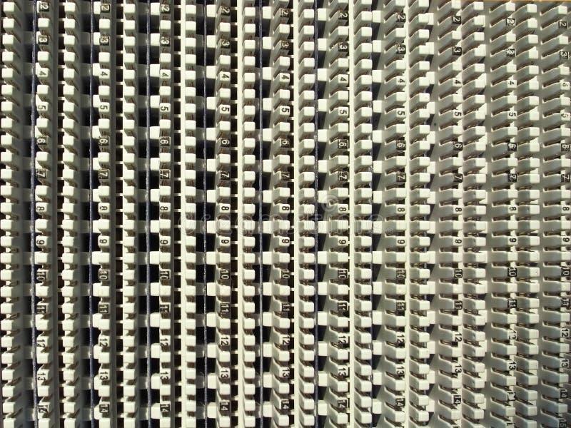 De kabelpaneel van de telefoon royalty-vrije stock foto's