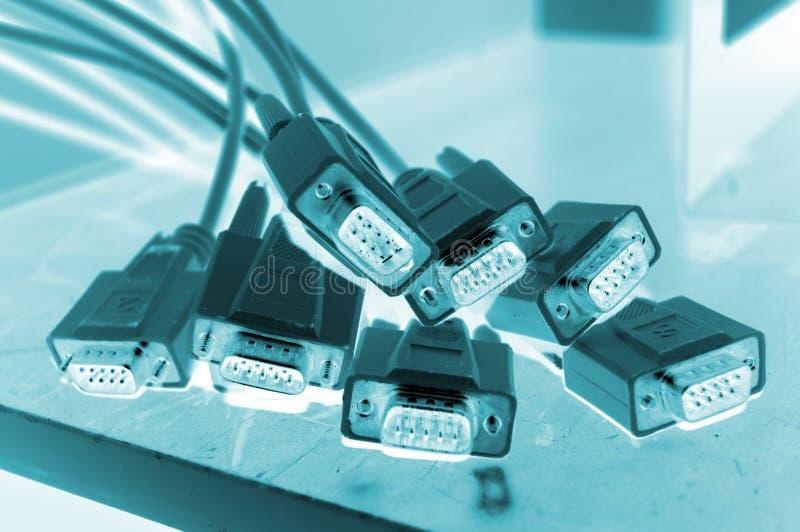 De kabels van de computer stock foto
