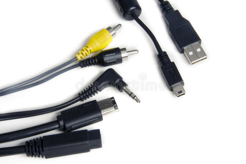 De Kabels van de computer stock afbeelding