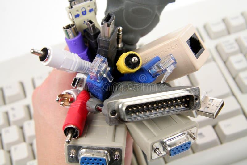 De kabels van de computer royalty-vrije stock foto