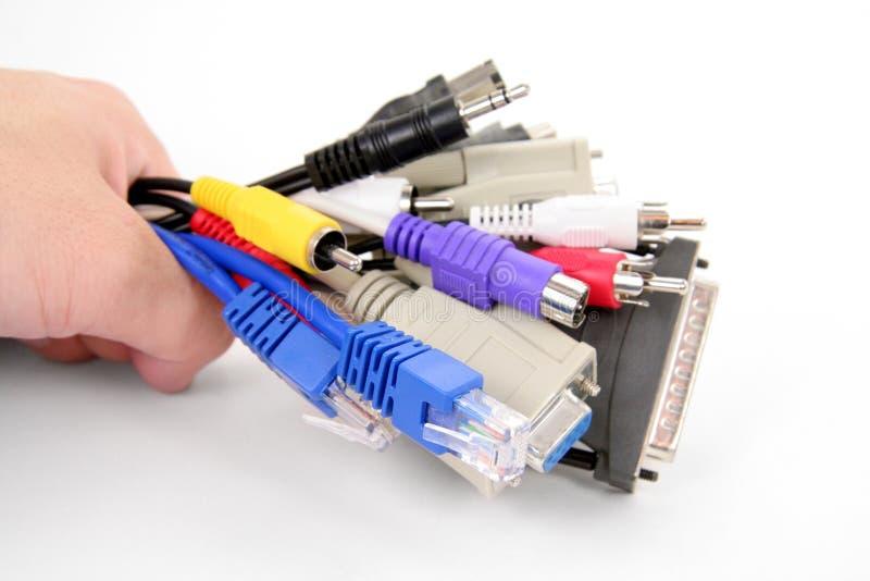 De kabels van de computer stock afbeeldingen