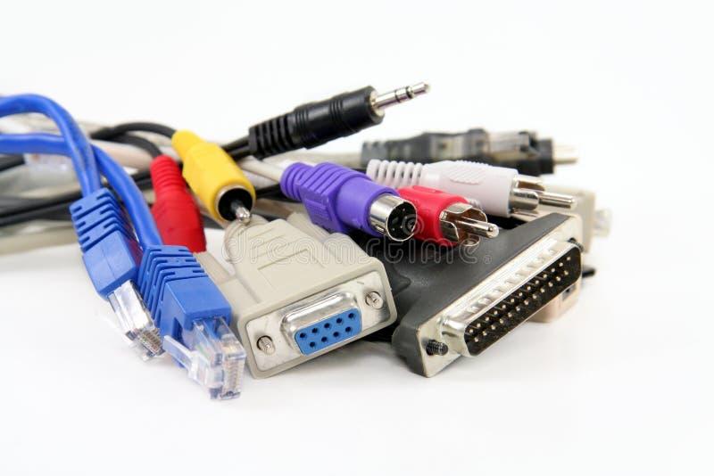 De kabels van de computer stock fotografie