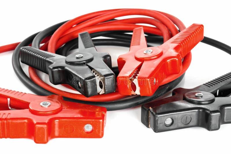 De kabels van de de batterijverbindingsdraad van de auto stock afbeeldingen