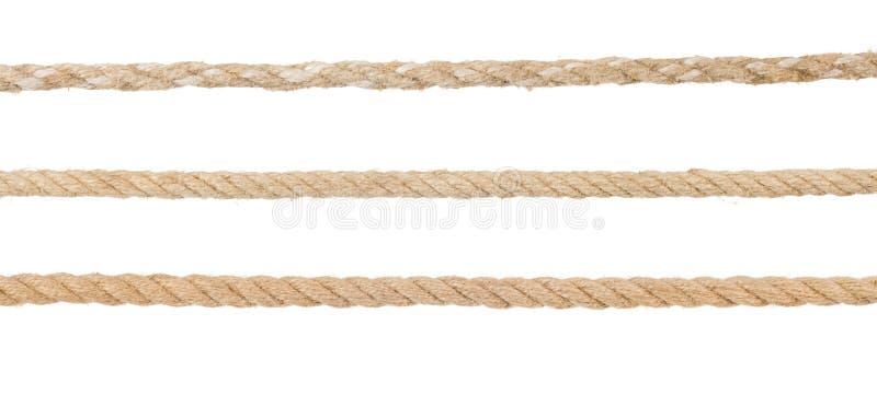 De kabels van het schip op wit royalty-vrije stock afbeelding