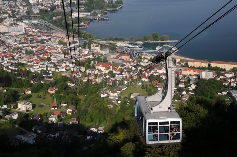 De kabelwagen Bregenz van Pfänder royalty-vrije stock fotografie