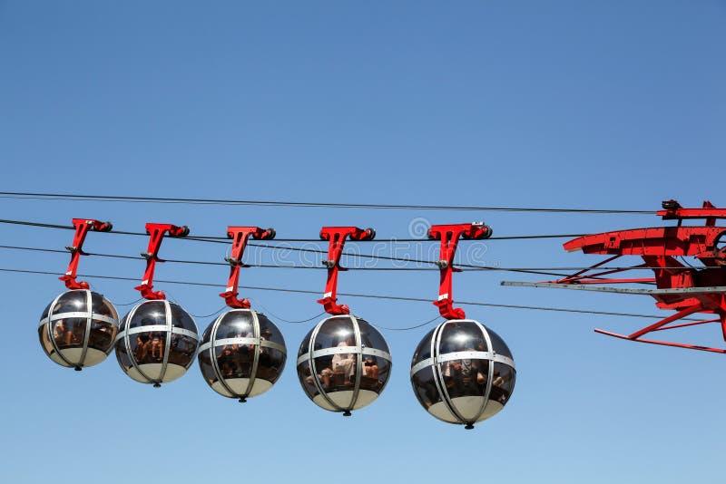 De kabelwagen van Grenoble Bastille stock afbeelding