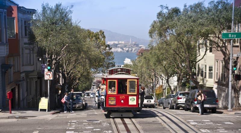 De Kabelwagen van San Francisco stock fotografie