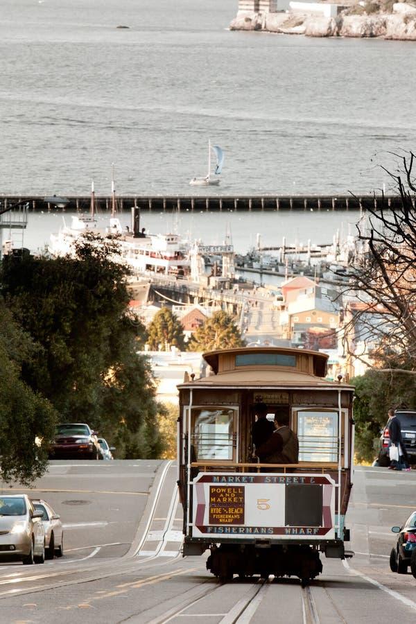 De Kabelwagen van San Francisco royalty-vrije stock afbeelding