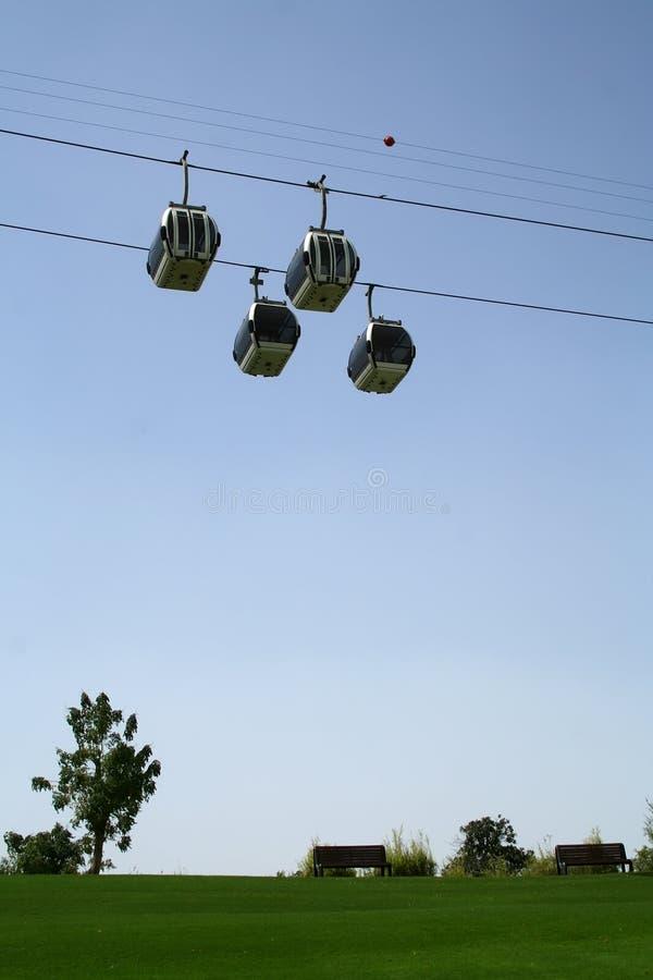 De Kabelwagens van de Kreek van Doubai stock afbeeldingen