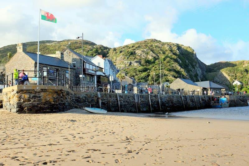 De Kade, Barmouth, Wales royalty-vrije stock afbeelding