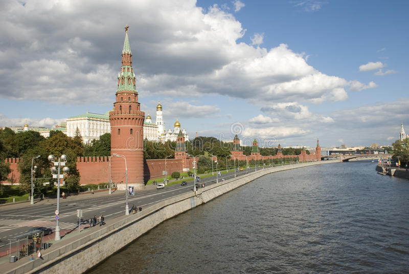 De kade van het Kremlin royalty-vrije stock foto