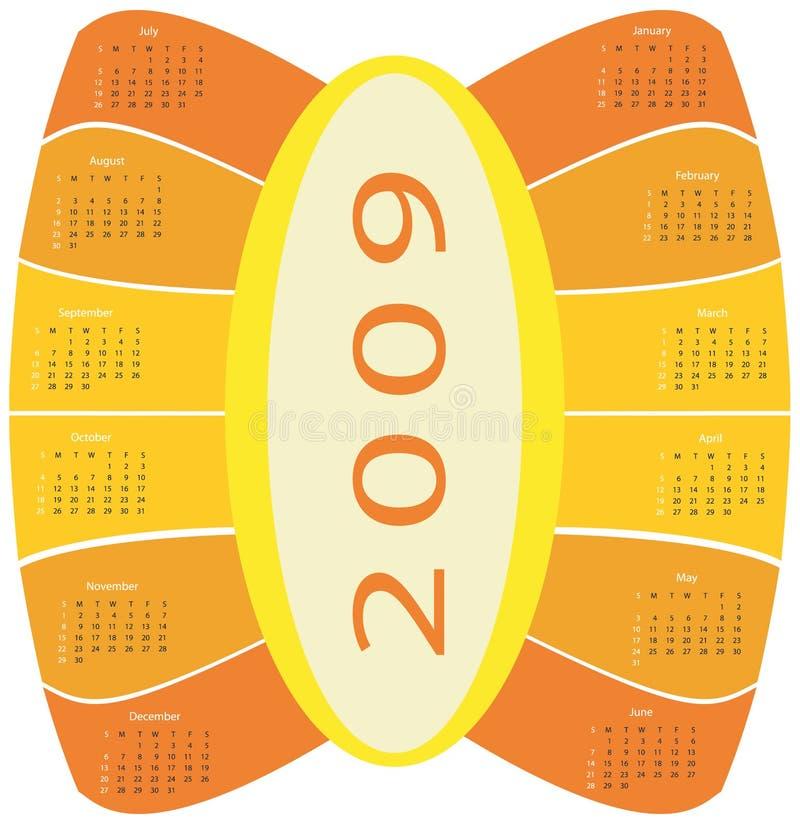 de kalender van 2009 royalty-vrije illustratie