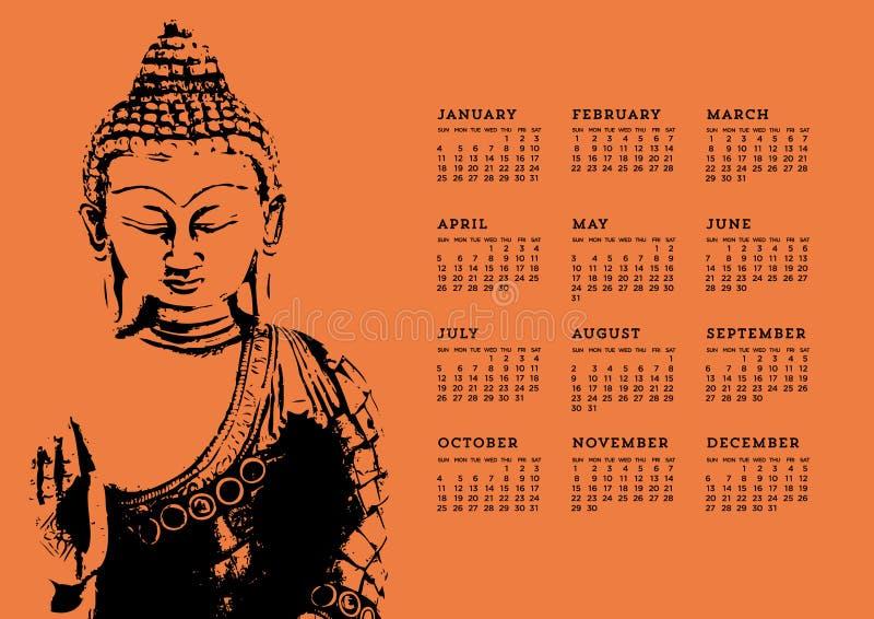 De Kalender van Boedha vector illustratie