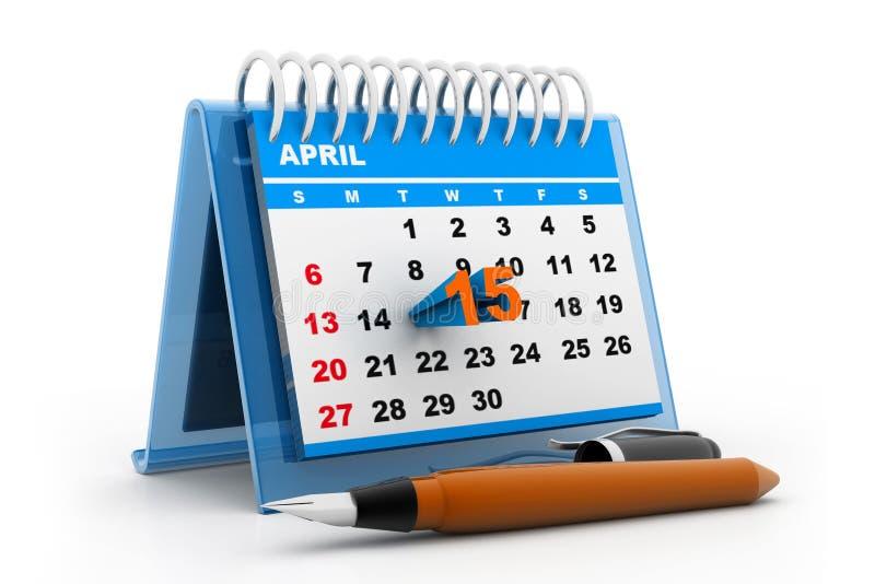 De kalender van de belastingsdag stock illustratie