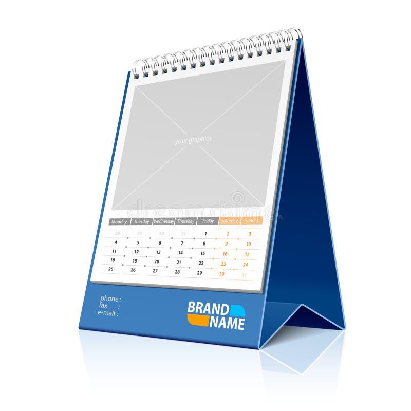 De kalender van de Desktop. Vector. vector illustratie