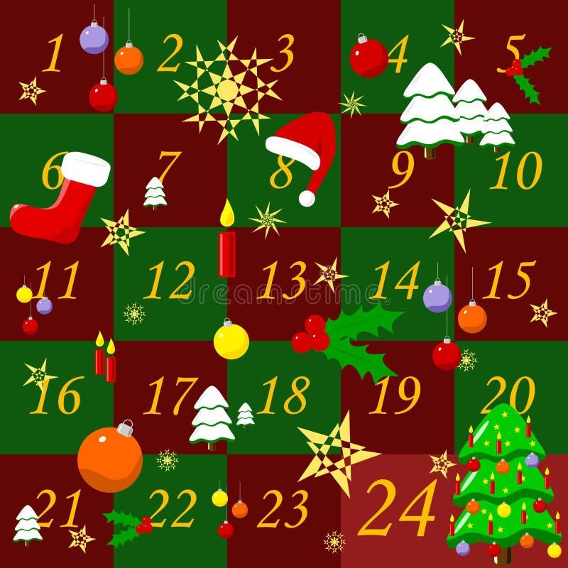 De kalender van de komst royalty-vrije stock afbeelding