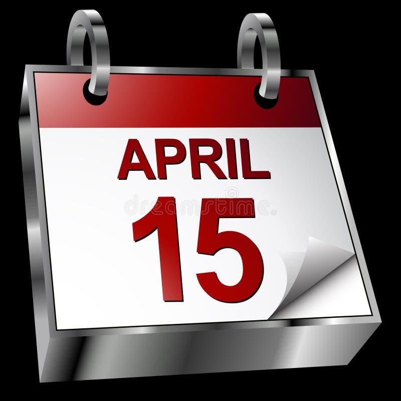 De Kalender van de Uiterste termijn van de belasting royalty-vrije illustratie