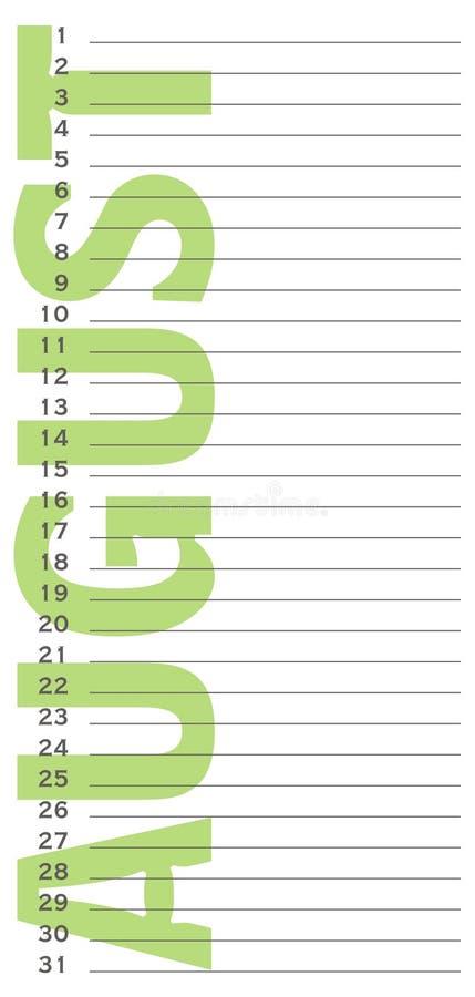 De kalender van de verjaardag vector illustratie