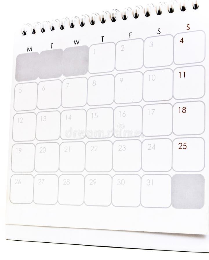 De kalender van het bureau royalty-vrije stock fotografie