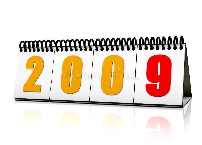 De kalender van het jaar 2009 vector illustratie