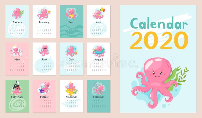 de kalenderpagina van 2020 stock foto
