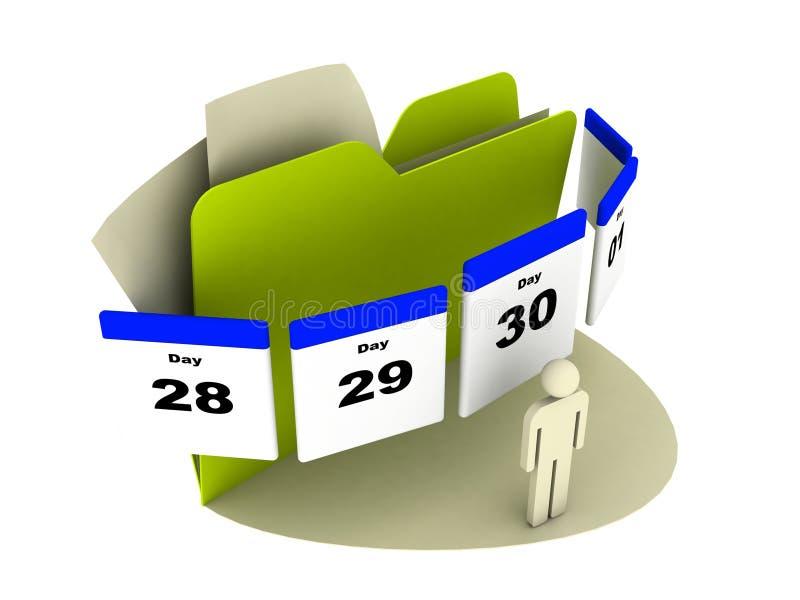 De kalenderpictogram van de dag royalty-vrije illustratie