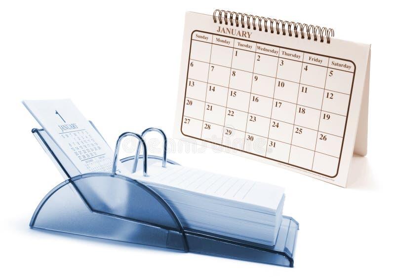 De Kalenders van het bureau stock foto's