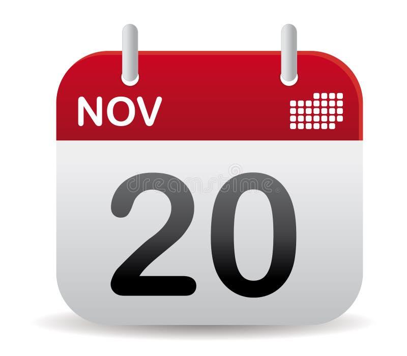 De kalendertribune van nov. omhoog stock illustratie