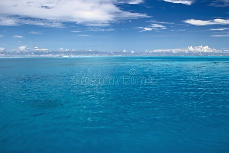 De kalme Indische Oceaan stock afbeeldingen