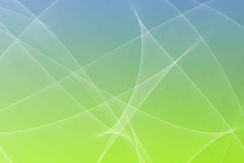 De kalmerende Abstracte Gloeiende Achtergrond van Lijnen stock illustratie