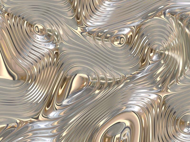 De kalmerende Vloeibare Stromende Abstracte Achtergrond van het Metaal vector illustratie