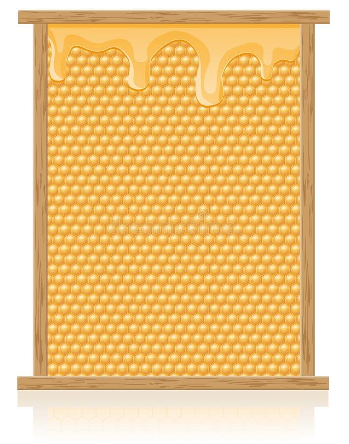 De kam van de honing in de frame vectorillustratie vector illustratie