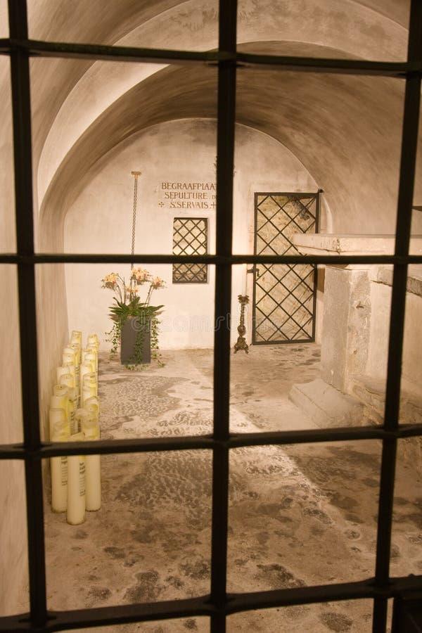 De kamer van de begrafenis van een bischop, een heilige royalty-vrije stock fotografie