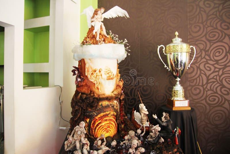 De kampioen van het cakeontwerp stock foto