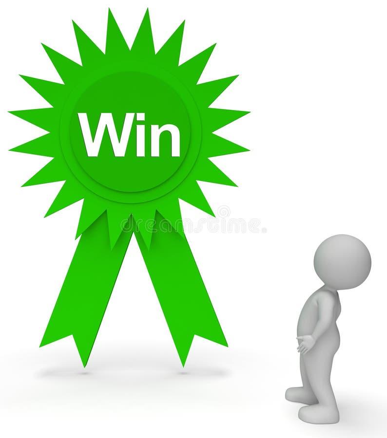 De Kampioenen van winstrosette means victorious victor and het 3d Teruggeven vector illustratie