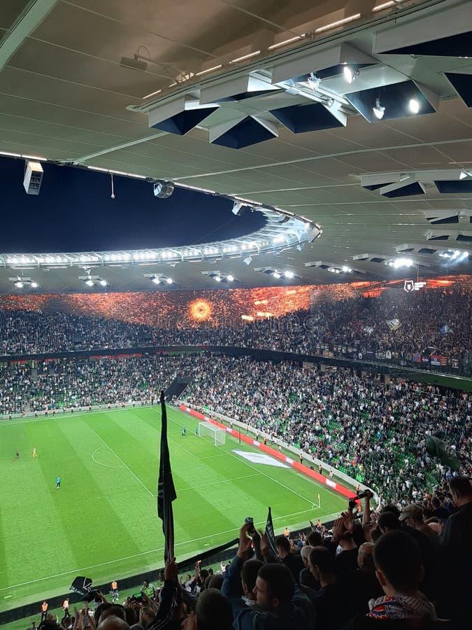 de Kampioenenliga van de stadionvoetbal stock foto's