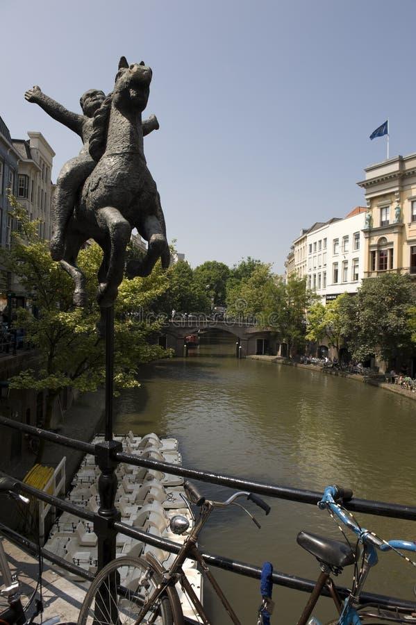 De kanalen van Amsterdam royalty-vrije stock foto's