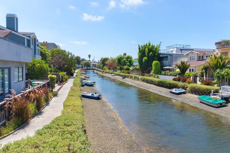 De Kanalen van Venetië in Los Angeles royalty-vrije stock foto