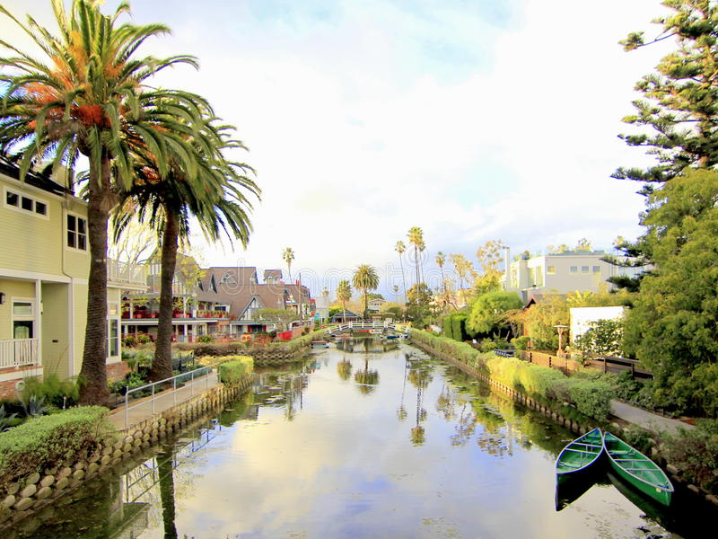 De Kanalen van Venetië, Los Angeles, Californië royalty-vrije stock foto's