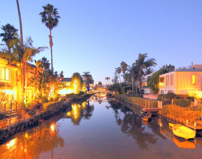De Kanalen van Venetië, Los Angeles, Californië royalty-vrije stock fotografie