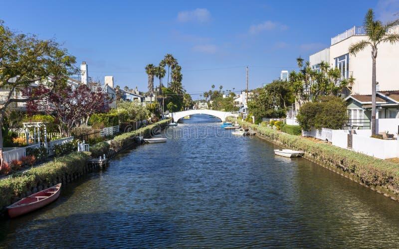 De Kanalen van Venetië, Venice Beach, Los Angeles stock foto