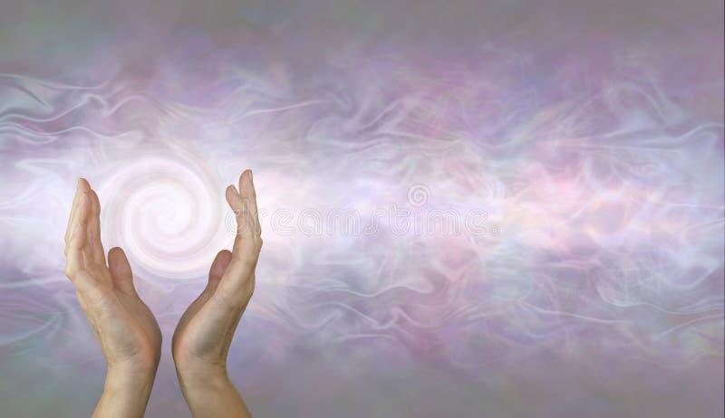 De kanaliserende achtergrond van de Draaikolk helende energie stock foto