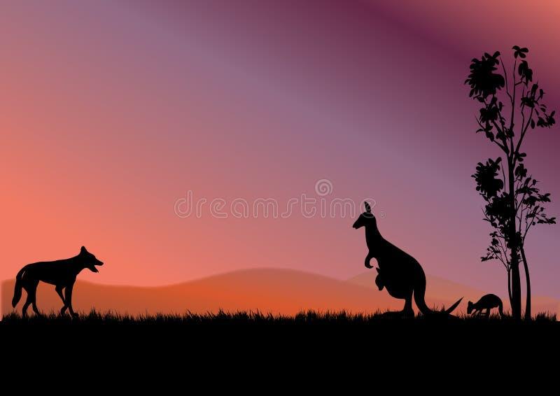 De kangoeroes van Australië vector illustratie