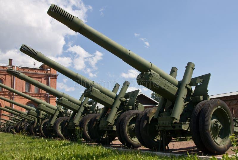 De kanonnen van de artillerie royalty-vrije stock fotografie